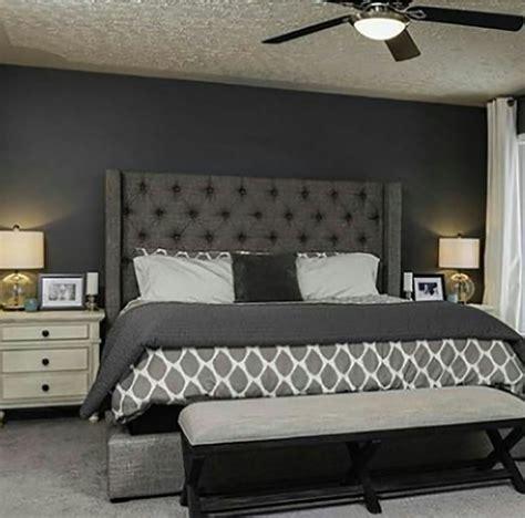 grey upholstered bed images  pinterest master