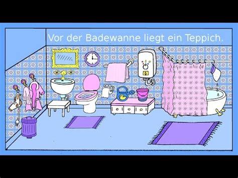 deutsch lernen das badezimmer dativ praepositionen