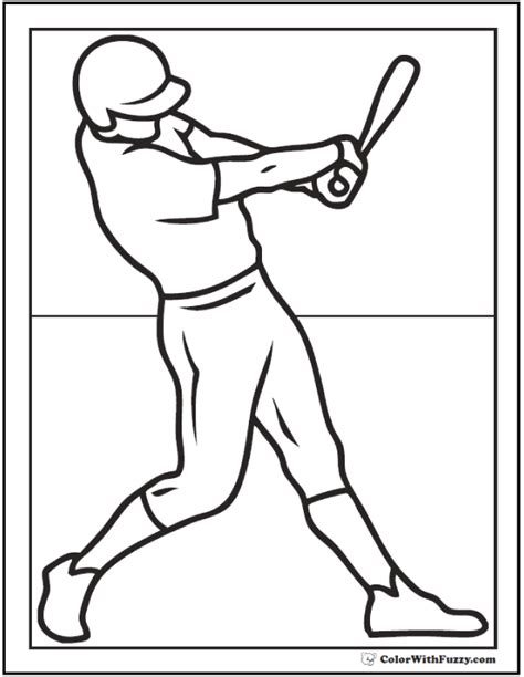 baseball coloring pages customize  print