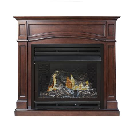 vent free fireplace shop pleasant hearth 45 875 in dual burner vent free