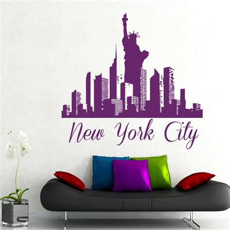 home decor stickers new york city wall decal skyline decals vinyl sticker home