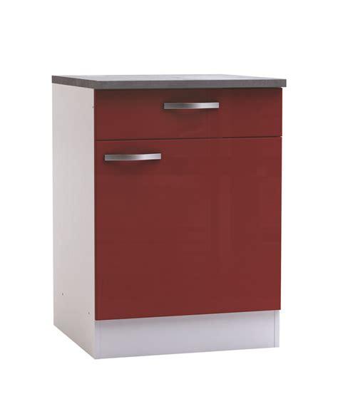 meuble bas cuisine 1 porte meuble bas de cuisine contemporain 1 porte 1 tiroir blanc