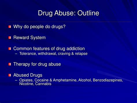drug abuse outline powerpoint