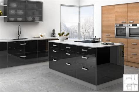 meuble cuisine noir laqué meuble de cuisine noir laque