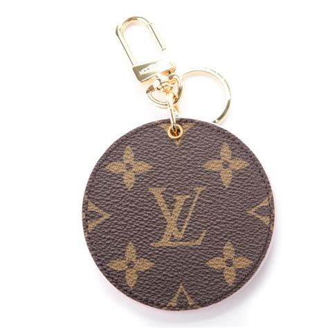 louis vuitton monogram lv mirror bag charm key holder rose