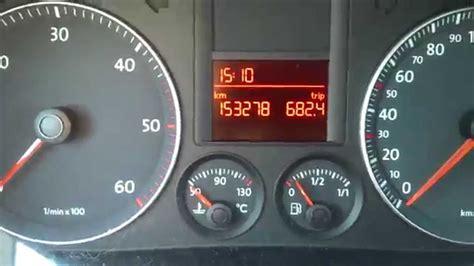Kasowanie Inspekcji Vw Golf V Oil Service Indicator Light
