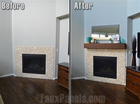 How To Install A Fireplace Mantel Faux Wood Workshop