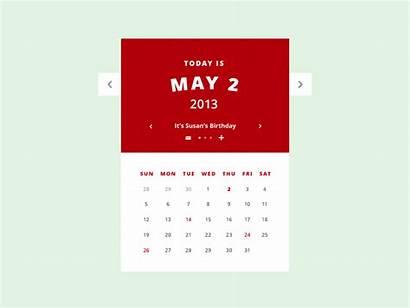 Calendar Psd Ui Animated Jakhu Amit Dribbble