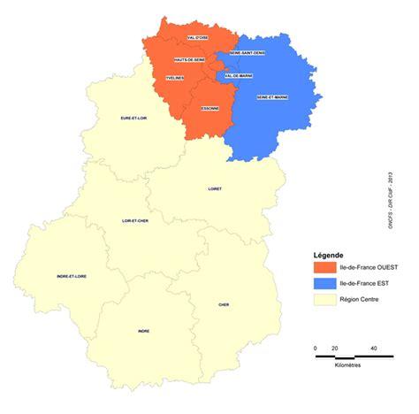 oncfs cartographie de la chasse en centre ile de france