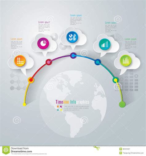 timeline infographics design template stock vector