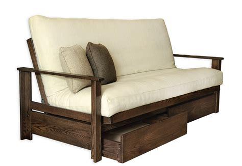 futon frame sherbrooke oak futon frame futon d or