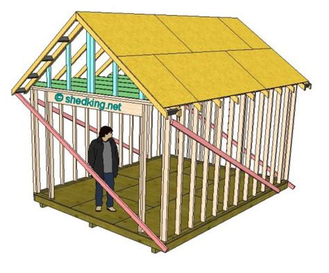 gable shed roof building  shed roof shed roof construction