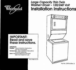 Whirlpool Lte6234dq1 User Manual Laundry Center Manuals
