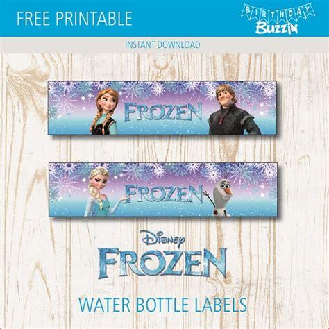printable frozen water bottle labels birthday buzzin