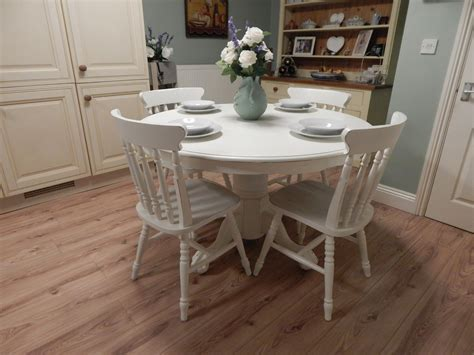 shabby chic farmhouse table and chairs lovely shabby chic farmhouse table and 4 chairs sold moonstripe