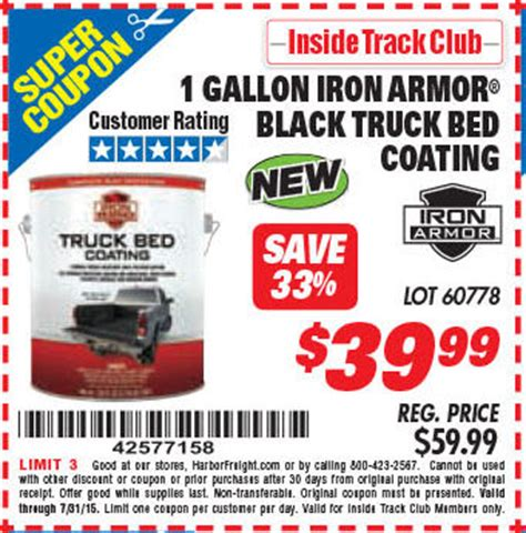 Iron Armor Bed Liner by Harbor Freight Tools Coupon Database Free Coupons 25