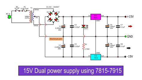 Dual Power Supply Schematic With Pcb