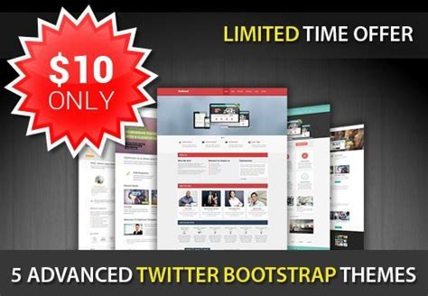 twitter bootstrap templates buy 5 advanced html5 twitter bootstrap templates with a