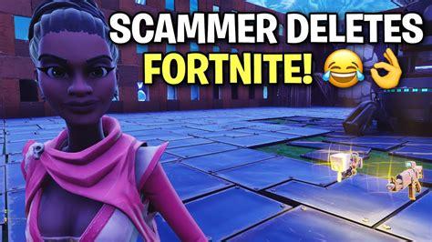 scammer   mad  deleted fortnite scammer