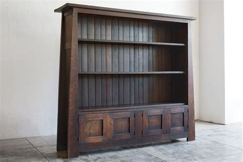 craftsman open floor plans mission style bookcase design doherty house