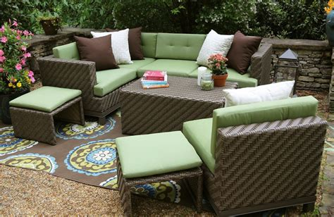 sunbrella outdoor sectional ae outdoor hton 8 sectional sofa set with