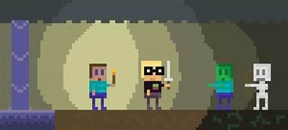 Pixel Cave Minecraft Zombies Plants Vs Scratch
