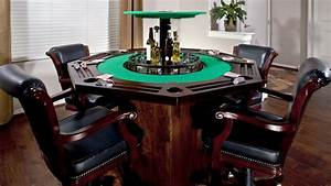 Card Table With A Hidden Bar In The Middle YouTube