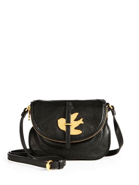 lyst marc  marc jacobs petal   metal bird leather