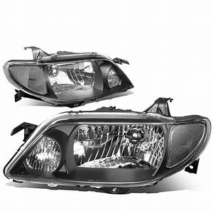 For 2001 To 2003 Mazda Protege Headlight Black Housing