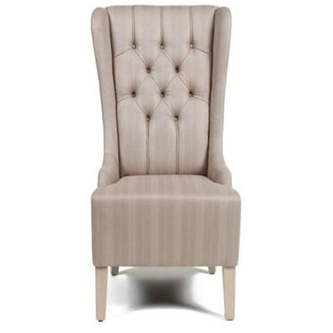 wingback dining chair high back tufted upholstery