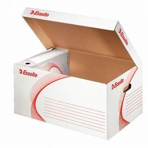 Fabriquer Une Boite En Carton Avec Couvercle : esselte conteneur archives avec couvercle rabattable blanc bo te archives esselte sur ~ Melissatoandfro.com Idées de Décoration