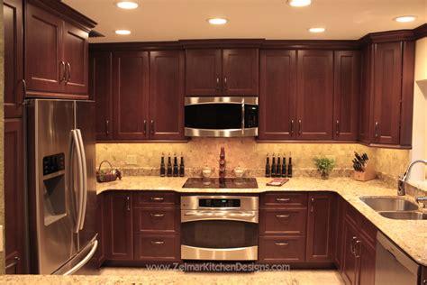 kitchen cabinets with backsplash shaker door style custom cherry kitchen cabinets with a