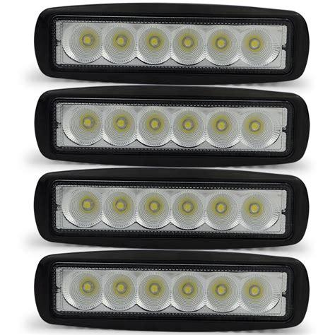 how do led lights work 4pcs 18w drl led work light worklight 10 30v 4wd free