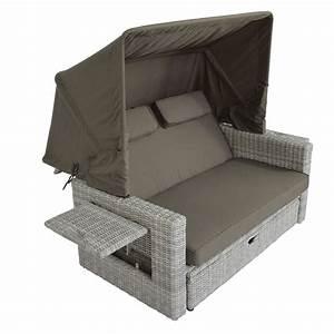 Rattan Lounge Mit Dach : gartenbett mit dach ~ Bigdaddyawards.com Haus und Dekorationen