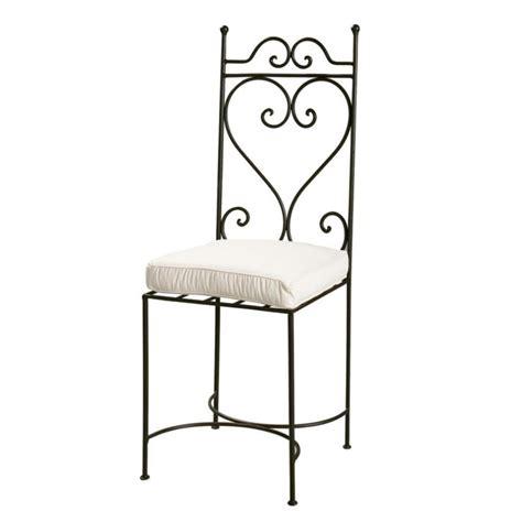 chaise fer forge maison du monde chaise en fer forg 233 marron toscane maisons du monde