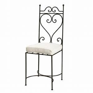 Chaise Fer Forgé : chaise en fer forg marron toscane maisons du monde ~ Teatrodelosmanantiales.com Idées de Décoration