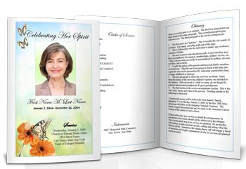 Funeral Booklet Template - Costumepartyrun