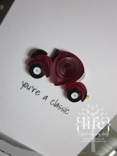 quilled classic car  images quilling birthday