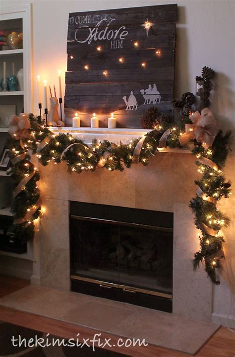 fireplace garlands at my favorite