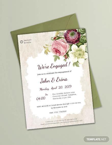 FREE 32+ Engagement Invitation PSD Designs in PSD MS