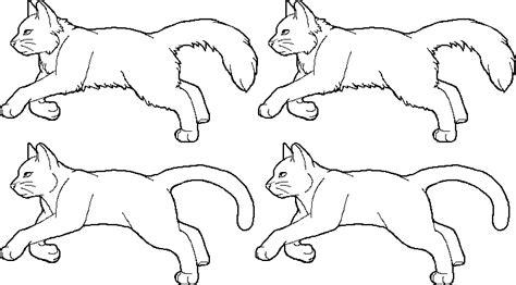 Running Cat Lineart Set By Stormfalconfire On Deviantart