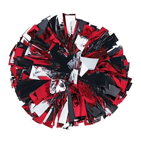 metallic cheerleading poms  stock