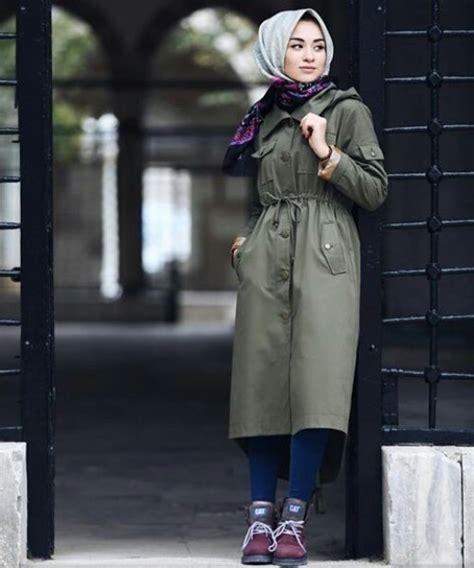 military khaki hijab style  trendy girls