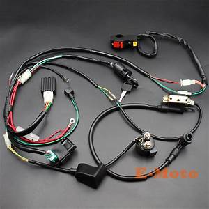 New Motorcycle Cdi Wiring Harness Loom Ignition Solenoid