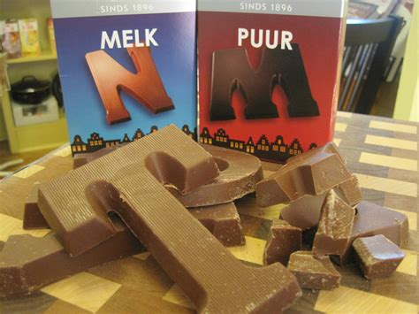 dutch people give chocolate letters european pantry