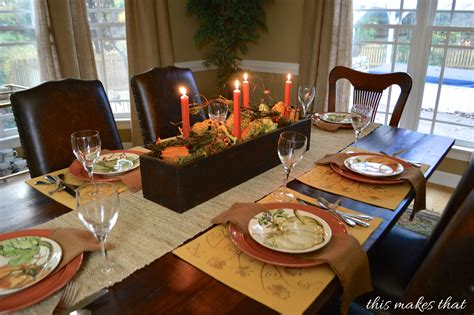 thanksgiving table setting ideas this makes that