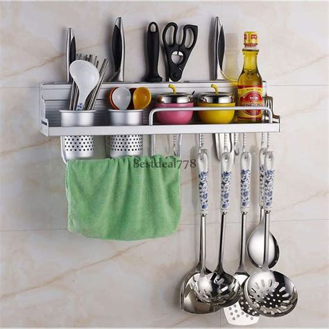 kitchen wall mounted pantry storage rack organizer knife