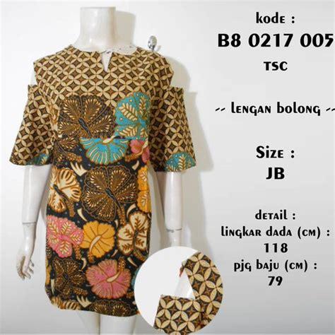 jual dress batik modern sabrina lengan bolong jumbo