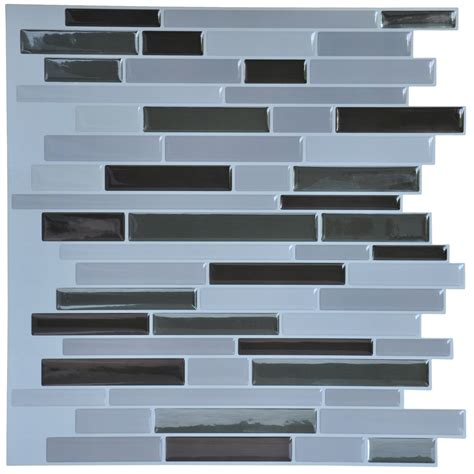 self adhesive wall tiles peel and stick backsplash 10 pcs