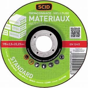 Disque A Tronconner : disque tron onner 115 x 2 5 mm outibat articles ~ Dallasstarsshop.com Idées de Décoration